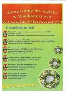 plakat warsztaty florystyczne